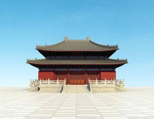 户外建筑, 古建, 中式古建