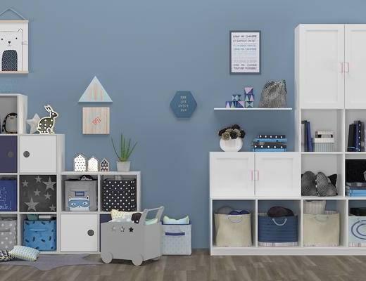 现代儿童柜, 收纳盒, 边柜, 鞋柜, 装饰柜