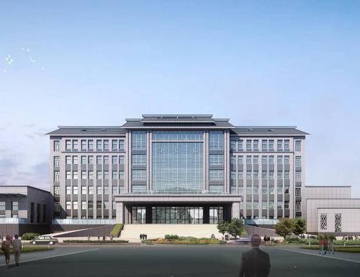 办公楼, 现代, 建筑, 外观