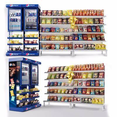 现代, 货架, 食品, 饮料
