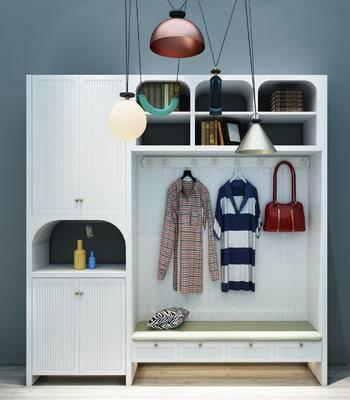 衣柜, 鞋柜, 服饰, 吊灯, 柜