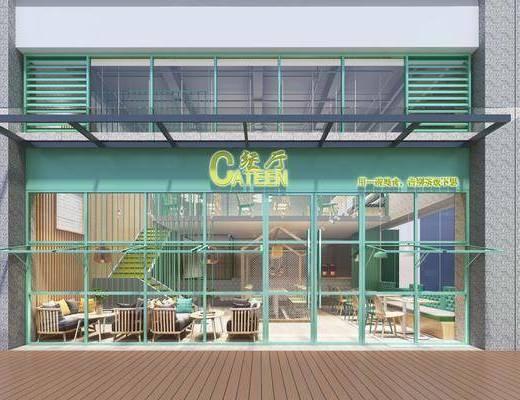 餐廳, 門面, 門頭, 桌椅組合