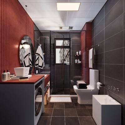 卫浴, 洗手盆, 马桶, 洗浴组合