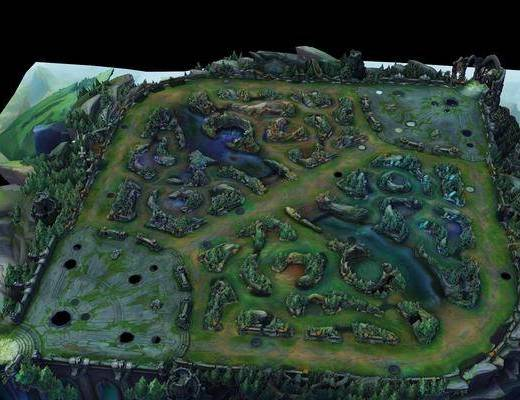 英雄聯盟, 游戲設備, 英雄聯盟地圖3d模型
