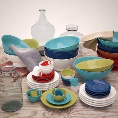 碗, 玻璃瓶, 现代