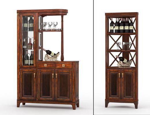 酒柜, 酒瓶, 中式