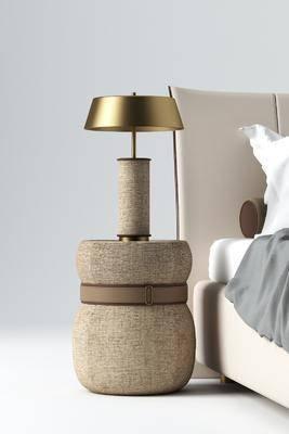 现代, 床头柜, 台灯