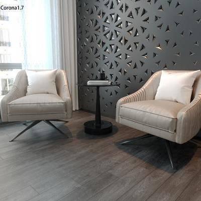 现代沙发椅CR, 现代沙发, 沙发, 椅子, 单椅
