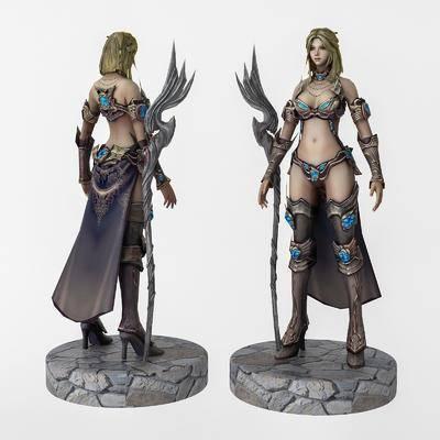 精灵女战士, 女战神, 手办