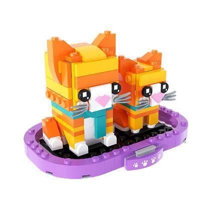 现代积木, 小猫咪积木玩具摆件