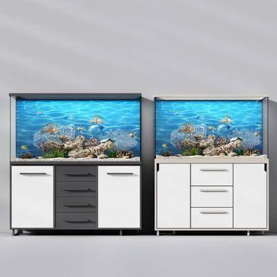 北欧玻璃鱼缸水族, 北欧, 鱼缸, 水族箱