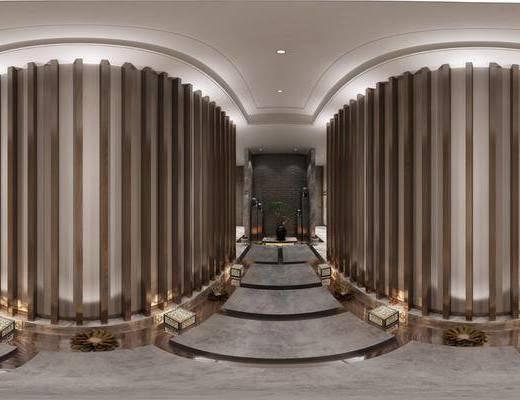 现代酒店走道, 走廊