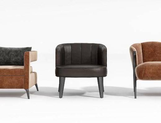 单人沙发, 沙发, 现代沙发