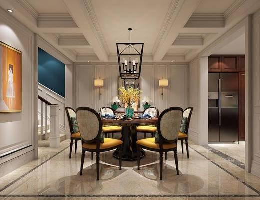 美式餐厅, 美式, 餐厅, 欧式餐厅, 欧式, 餐桌椅