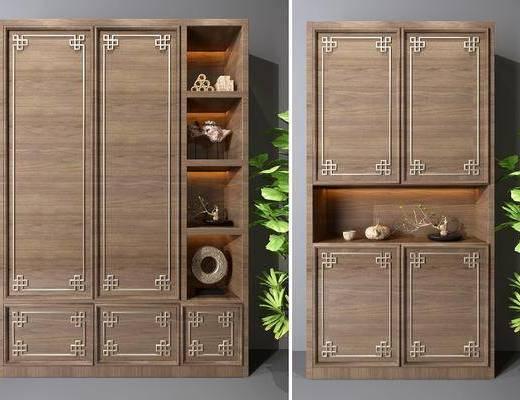 装饰柜, 新中式装饰柜, 摆件, 鞋柜, 置物柜, 新中式, 双十一