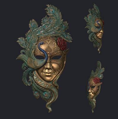 金属人物, 面具摆件, 欧式