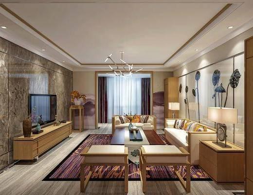 中式客厅, 客厅