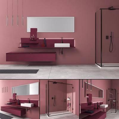 浴室柜, 洗手台, 现代
