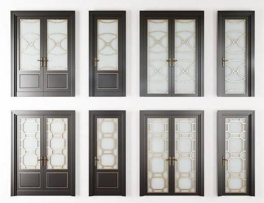 烤漆房门, 入户门, 复合门, 单开门, 双开门, 子母门, 玻璃门, 平开门组合, 现代
