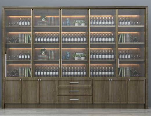 酒柜, 整体酒柜, 装饰酒柜, 餐厅酒柜, 豪华酒柜, 个性酒柜, 高档酒柜, 酒瓶, 现代