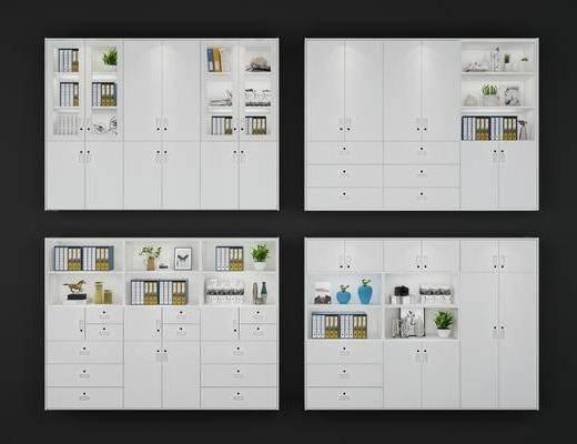 文件柜, 书柜, 装饰柜, 档案柜, 摆件, 装饰品, 陈设品, 现代