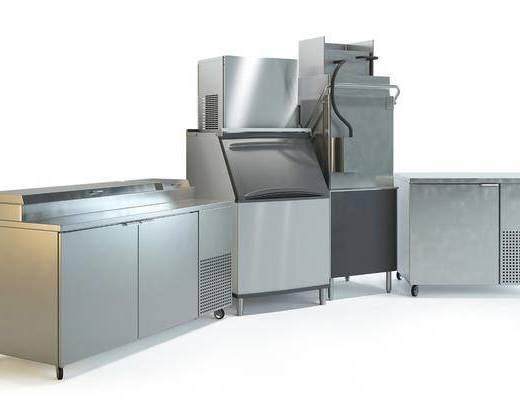 现代, 厨房, 设备, 组合