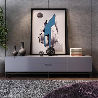 电视柜, 柜架组合, 摆件组合, 装饰画