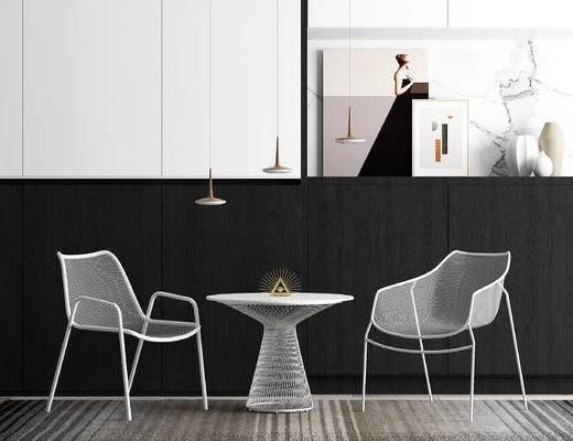 休闲桌椅, 网状单椅, 吊灯