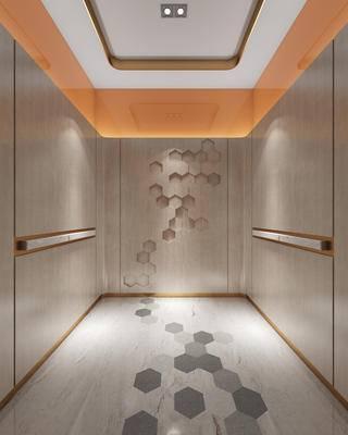 现代, 电梯间, 装饰