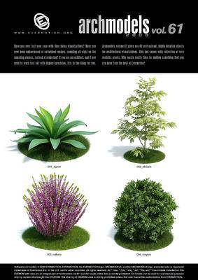 灌木, 树, 植物, Evermotion, Archmodels, EV