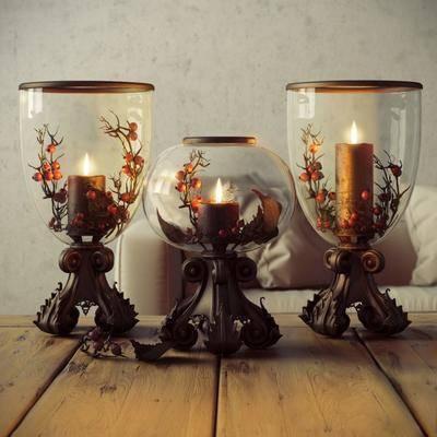 蜡烛台, 欧式, 玻璃