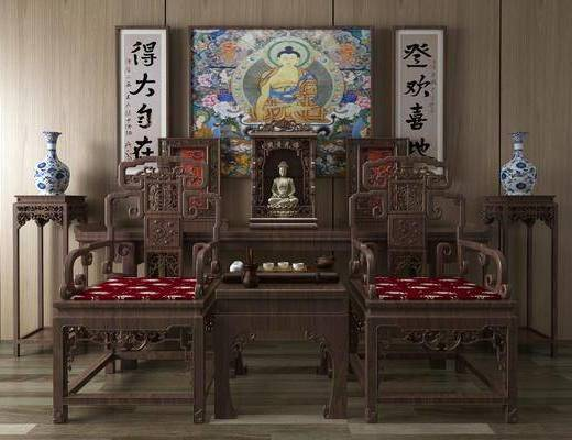 中式佛像, 佛像, 佛龛
