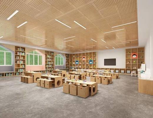 现代幼儿园, 课室, 课桌
