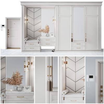 梳妝臺, 衣柜, 對講門禁, 現代