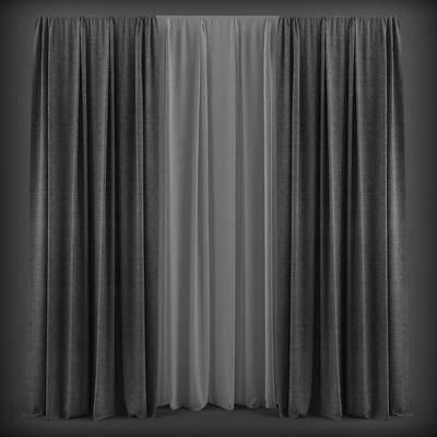 窗帘, 现代, 布艺
