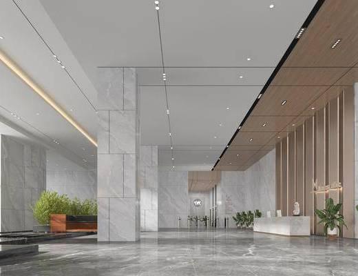 现代, 办公楼, 工装