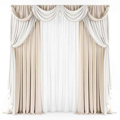 现代窗帘, 窗帘, 现代, 布艺, 布艺窗帘