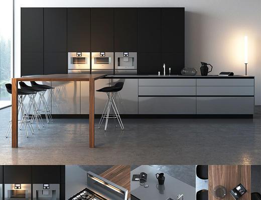 后现代, 厨房组合, 厨电组合, 桌椅组合