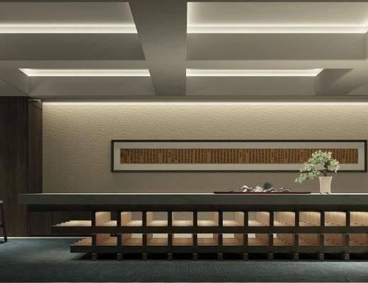会议室, 新中式会议室, 沙发组合