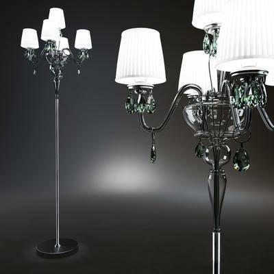 灯, 落地灯, 玻璃, 现代