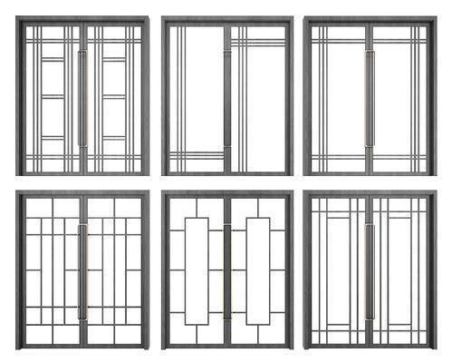 新中式, 门窗