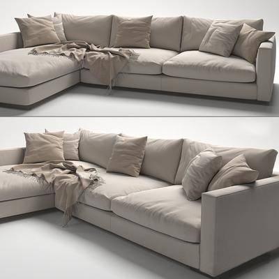 转角沙发, 多人沙发, 现代