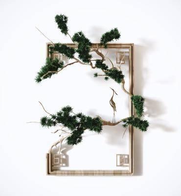 新中式, 墙饰