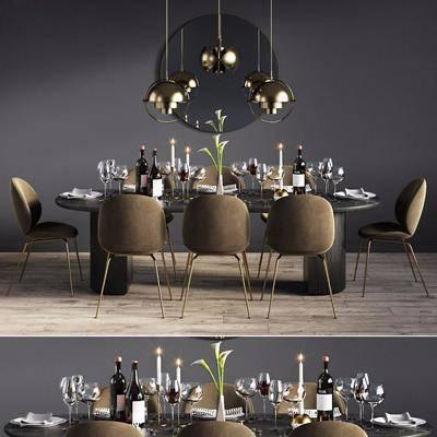 現代, 餐桌椅, 吊燈