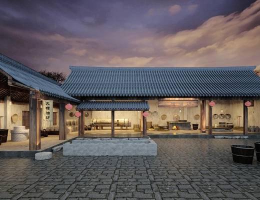 中式, 古建, 油坊