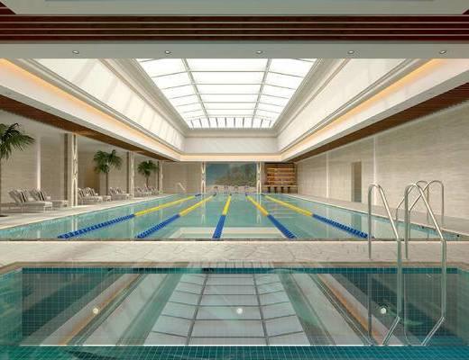 游泳馆, 游泳池, 室内游泳池, 室内游泳馆, 休闲区, 娱乐区