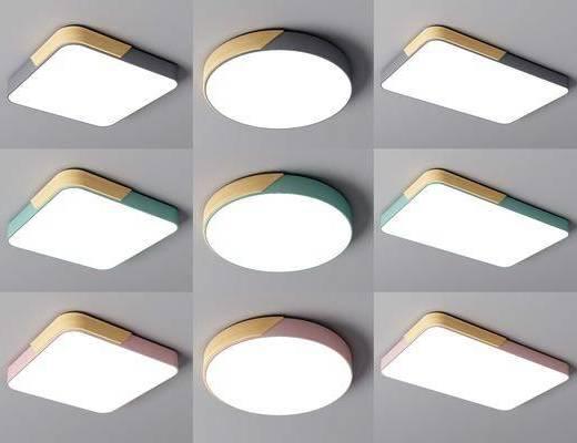 现代, 吸顶灯, 灯具