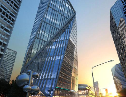 现代, 玻璃大楼, 大厦建筑