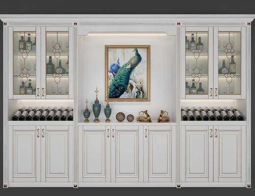 ?#30340;?#37202;柜, 酒瓶, 动物画, 摆件, 装饰品, 陈设品, 装饰画, 简欧