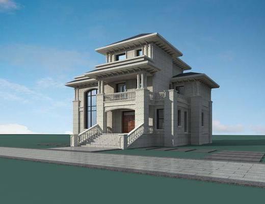 別墅, 門面門頭, 石材別墅, 歐式